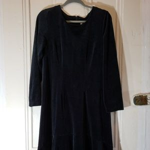 Hanna Andersson Velvet Dress, Black, Sz. Med